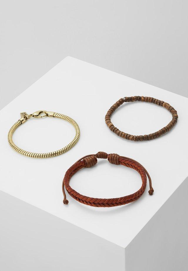 QUAYS BRACELET 3 PACK - Armband - brown