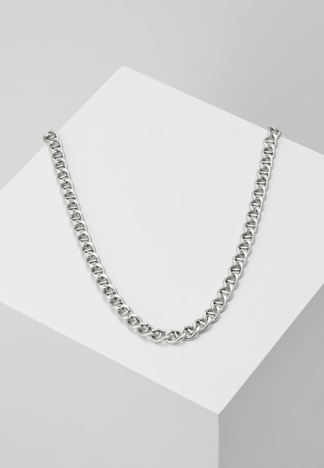 RAW NECKLACE - Halskette - silver-coloured