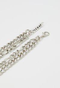 Icon Brand - STREET SAFARI MULTI ROW NECKLACE - Collana - silver-coloured - 3
