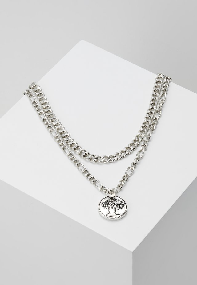 STREET SAFARI MULTI ROW NECKLACE - Halskette - silver-coloured