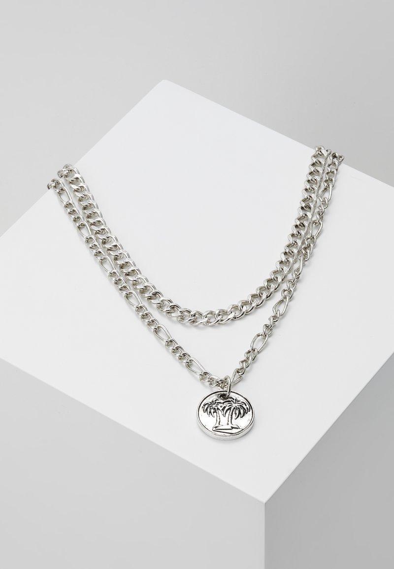 Icon Brand - STREET SAFARI MULTI ROW NECKLACE - Collana - silver-coloured