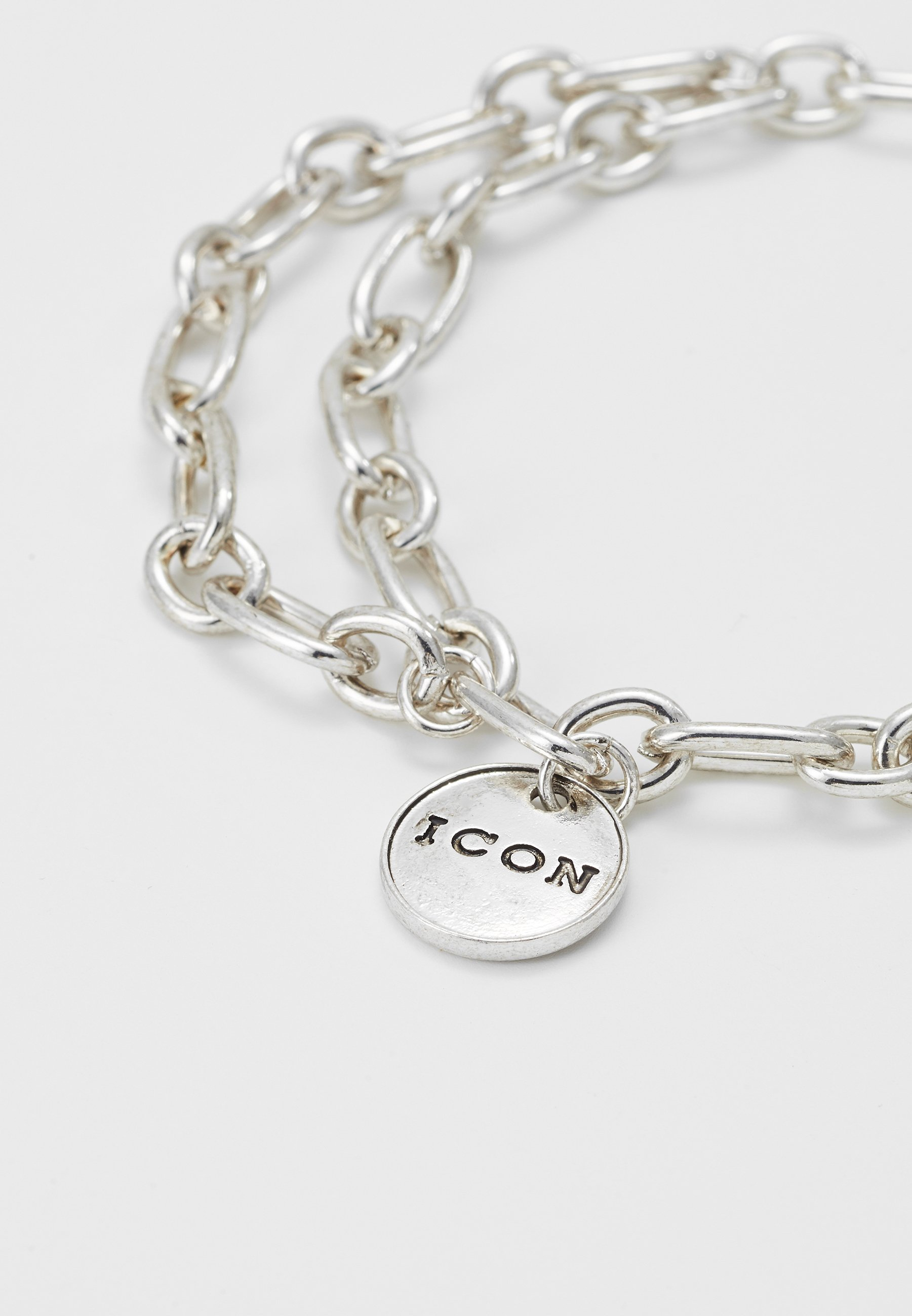 Icon Brand STREET SAFARI CHAIN BRACELET - Bransoletka - silver-coloured
