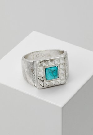 SQUARE WEST AFRICA - Prsten - silver-coloured/turquoise