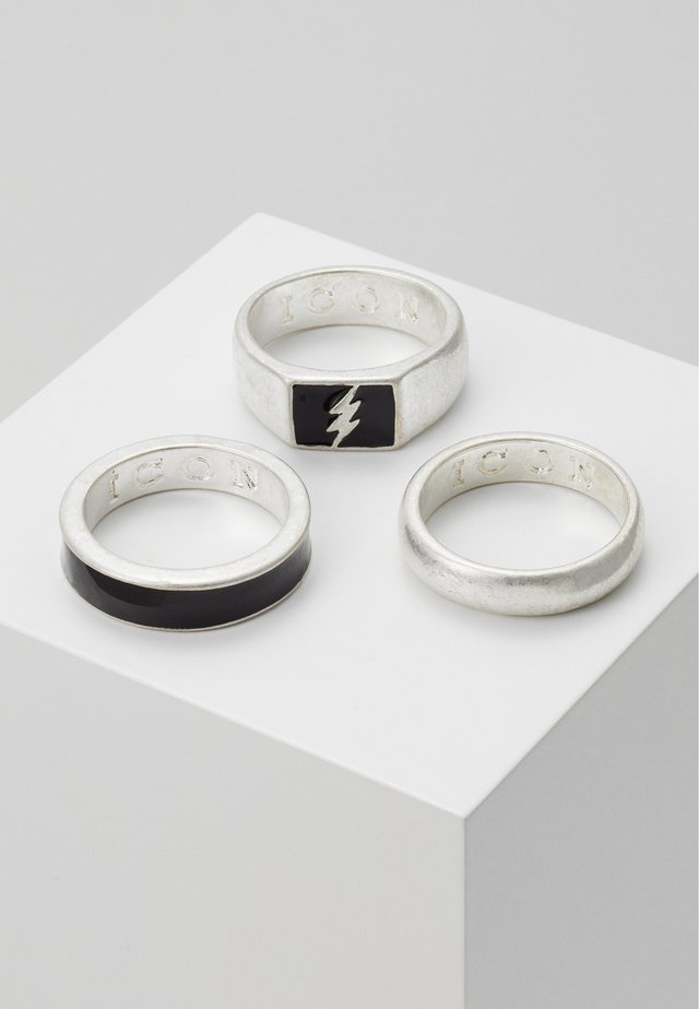 LIGHTNING 3 PACK - Prsten - silver-coloured