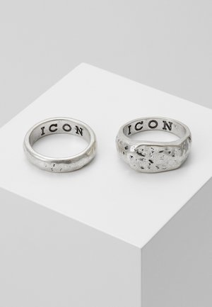 MOON ROCK 2 PACK - Prsten - silver-coloured