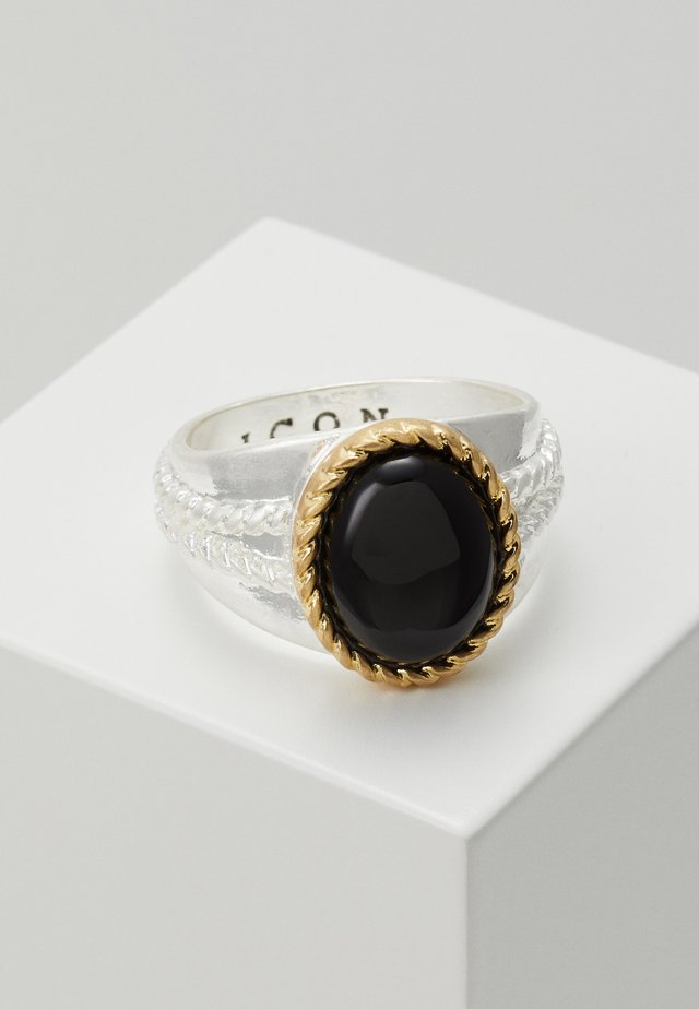 ROPED IN - Bague - silver-coloured/black