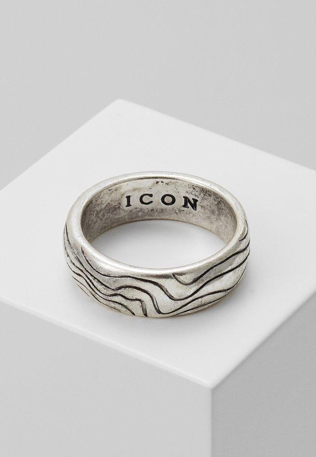 CONTOUR BAND - Ring - silver-coloured