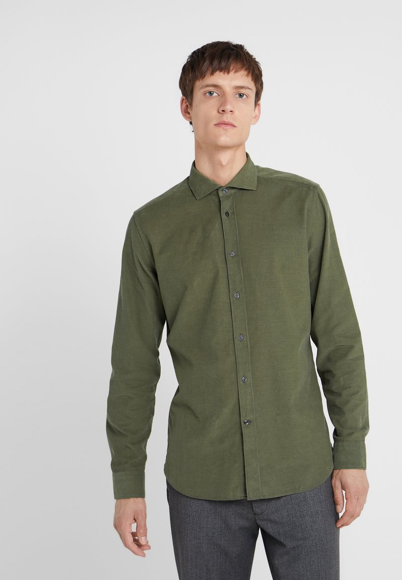 CC COLLECTION CORNELIANI - LONG SLEEVED SHIRT - Kauluspaita - green