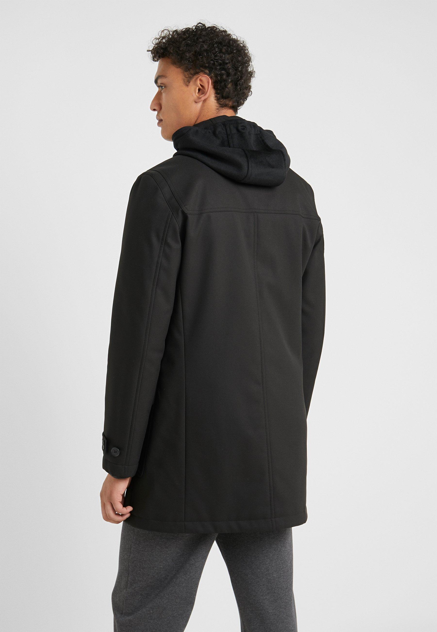 Cc CarcoatManteau Court Corneliani Black Collection DI9WEY2H