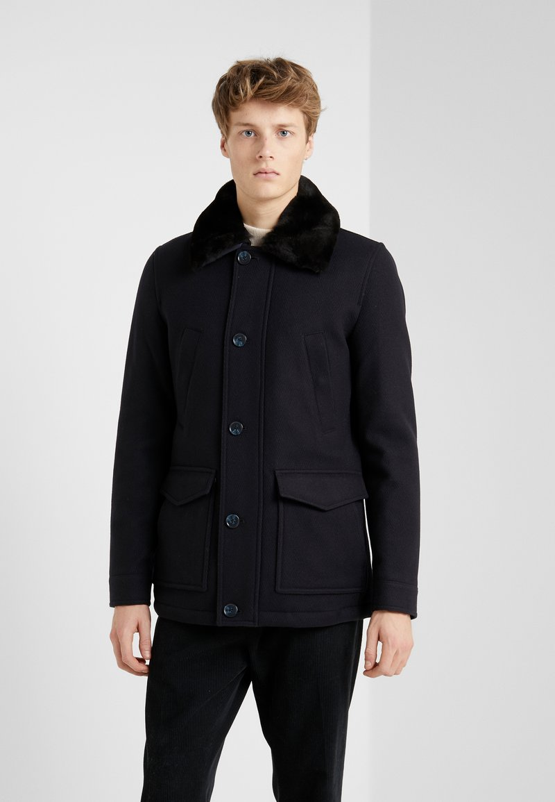CC COLLECTION CORNELIANI - CARCOAT - Classic coat - dark blue