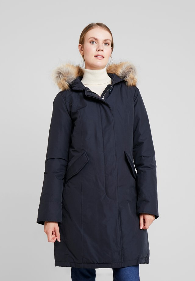 FUNDY BAY LONG FAKE FUR - Down coat - navy