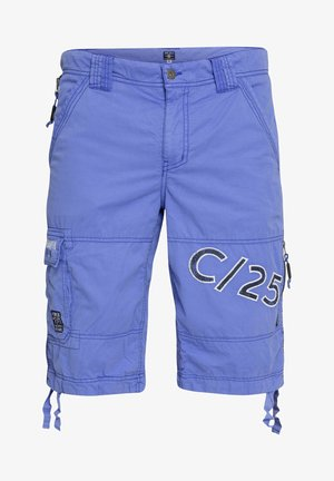 MIT GEWASCHENER OPTIK - Shorts - beach blue