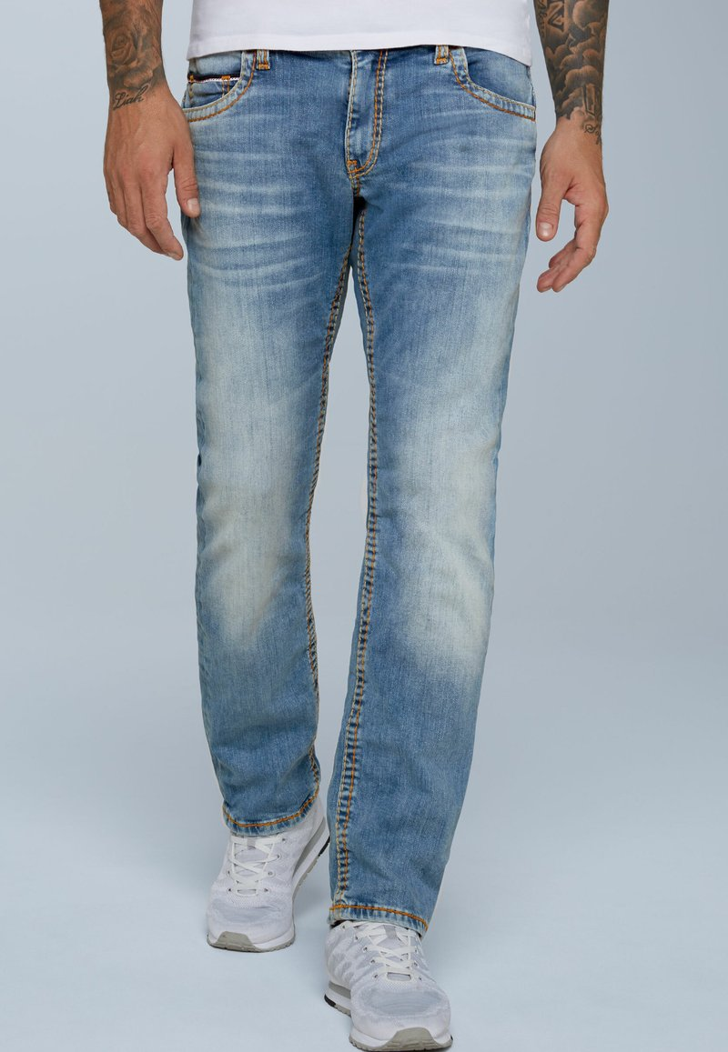 Camp David - RETRO STYLE - Straight leg jeans - light vintage
