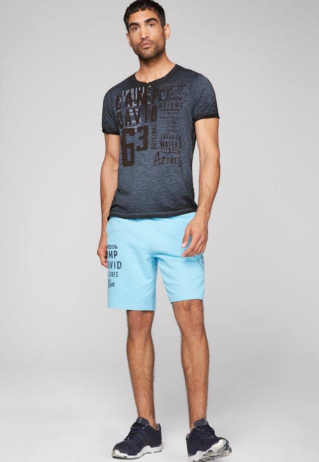 Print T-shirt - blue navy