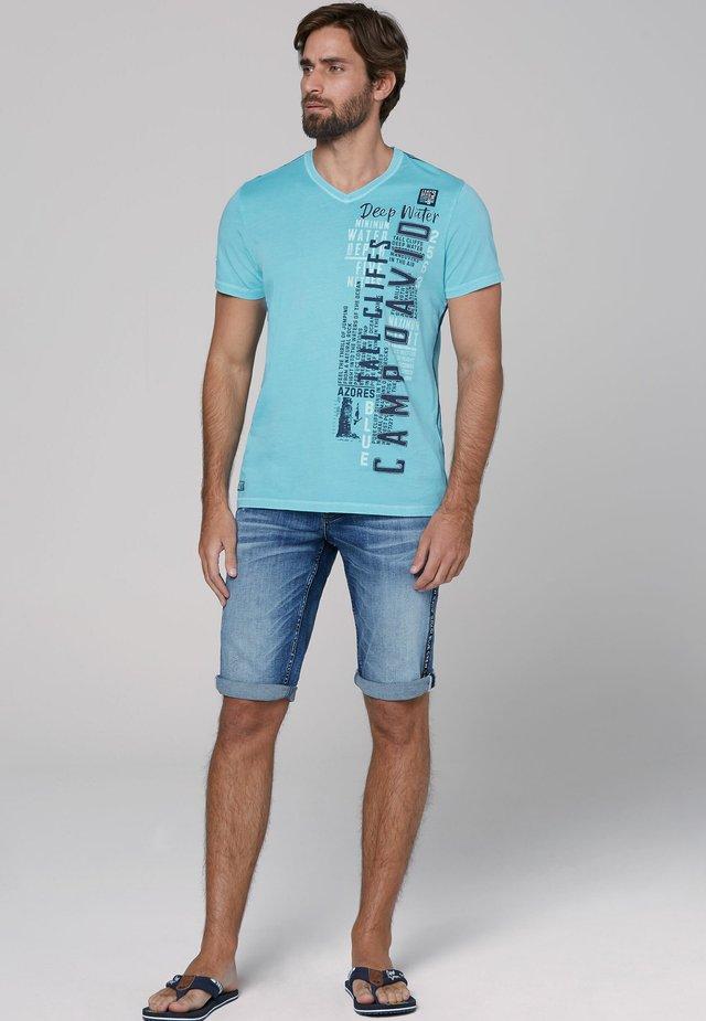 Print T-shirt - fresh aqua