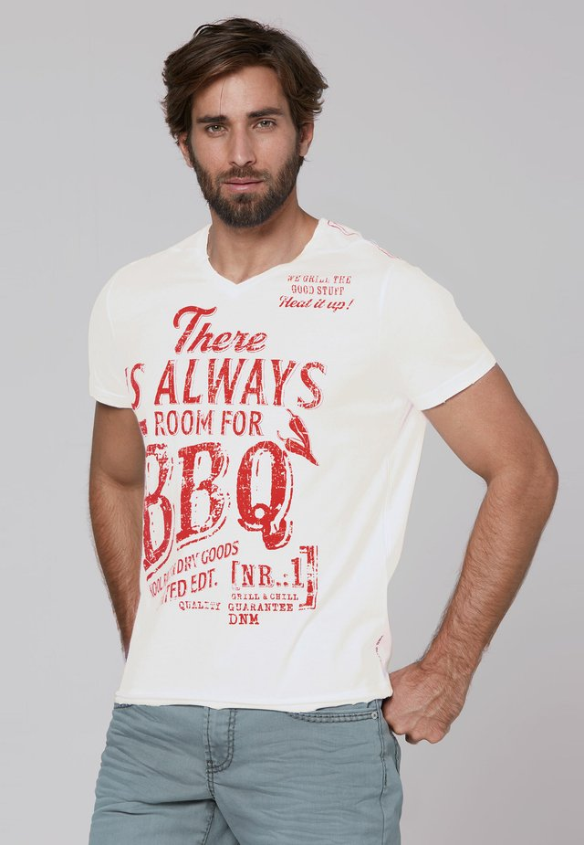 Print T-shirt - opticwhite