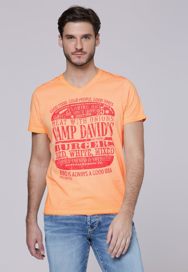 Print T-shirt - spicy orange