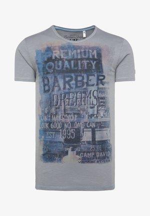 Print T-shirt - coin grey