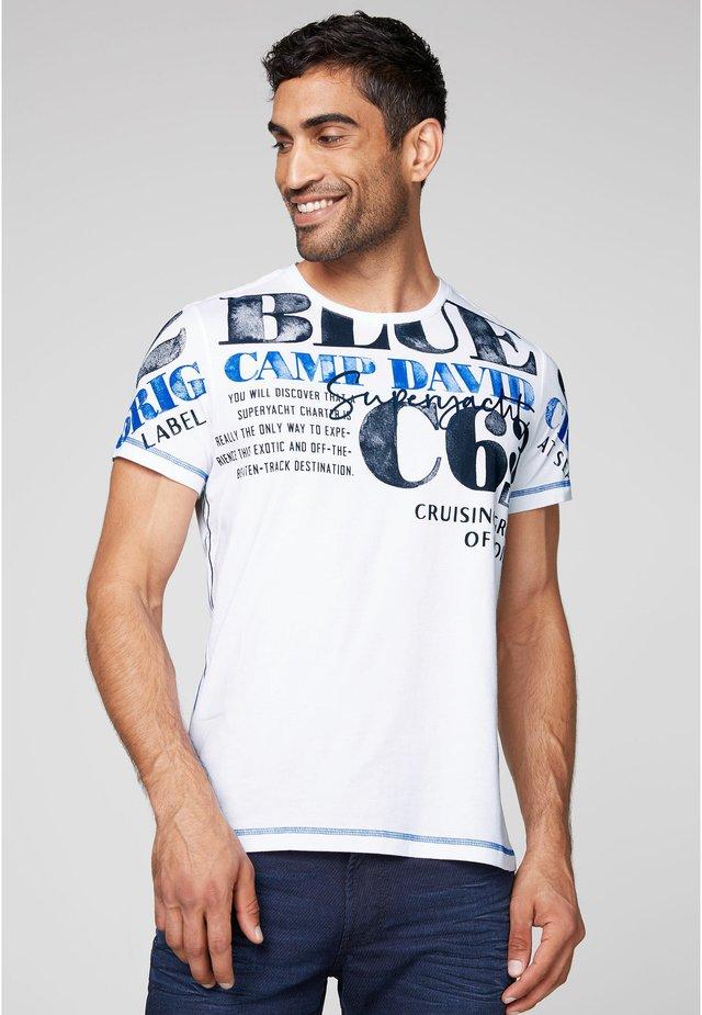 MIT WATERCOLOUR PRINT - Print T-shirt - opticwhite