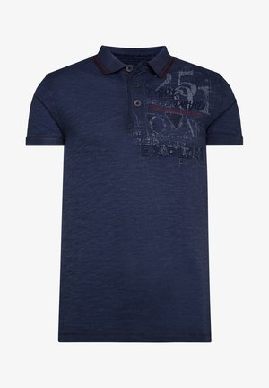 MIT BEIDSEITIGEN ARTWORKS - Polo shirt - raw blue