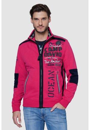 Zip-up hoodie - red purple