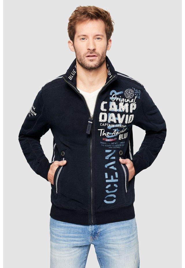 Zip-up hoodie - blue navy