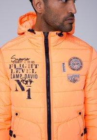 Camp David - MIT KAPUZE - Winter jacket - neon yellow - 3