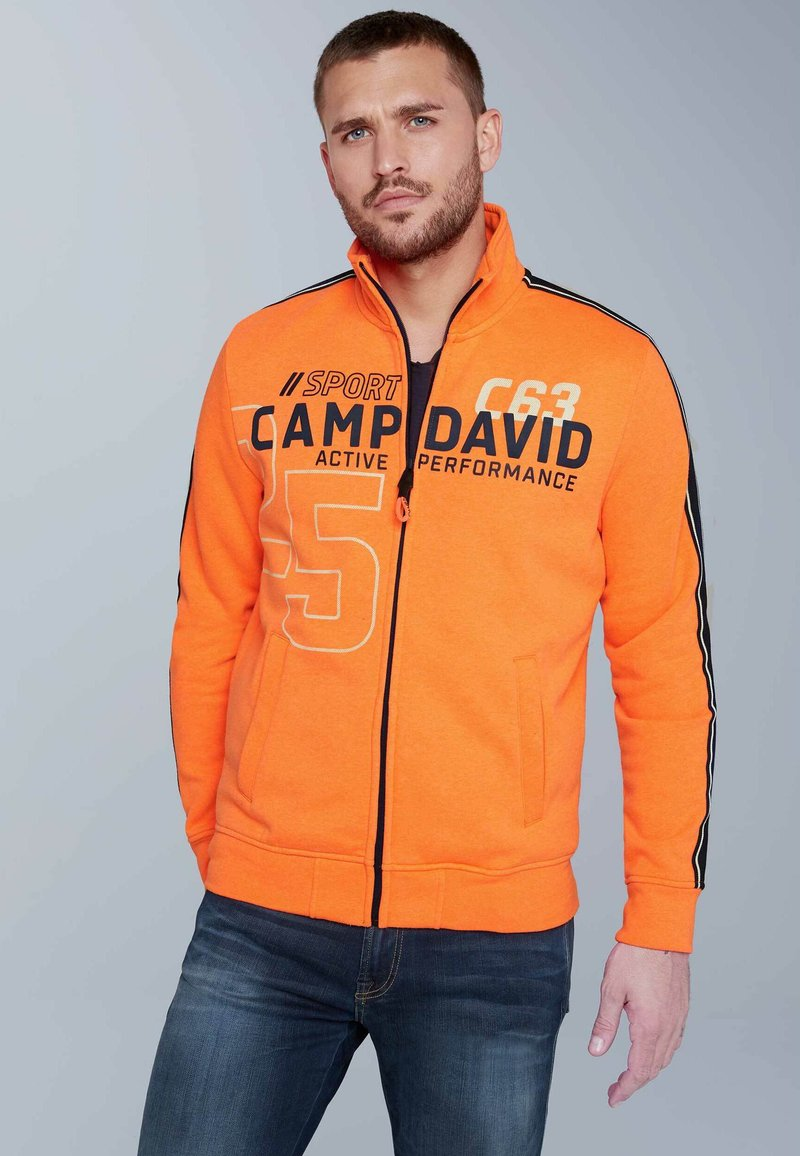 Camp David - Zip-up hoodie - neon fire