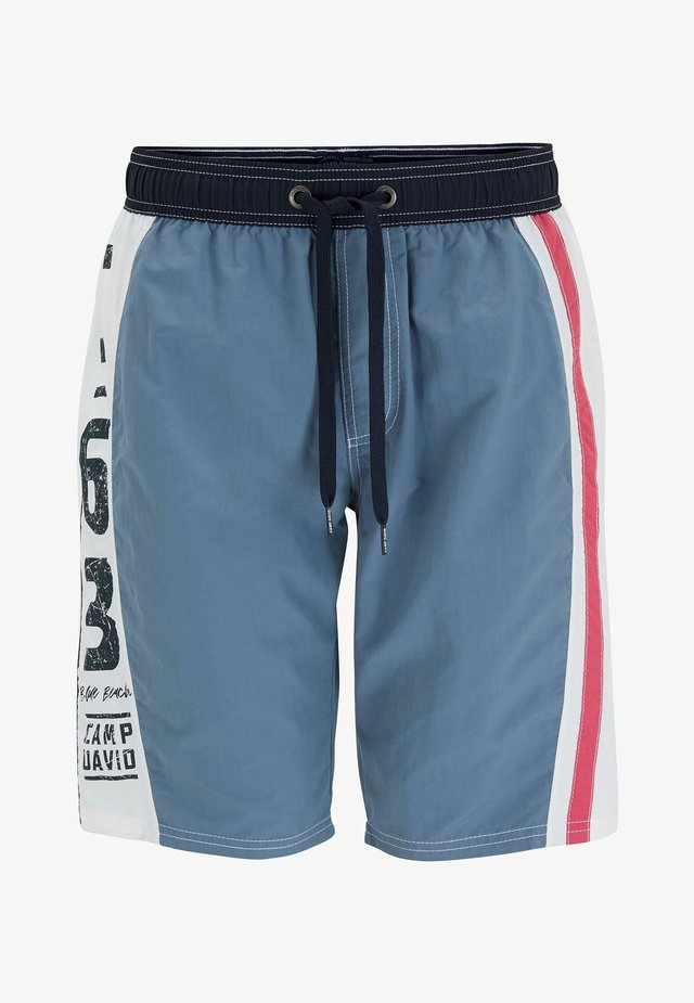 MIT COLOUR-DESIGN UND PRINT - Swimming shorts - cliff grey