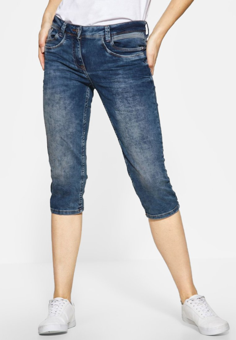 Cecil - CHARLIZE - Jeans Shorts - blue
