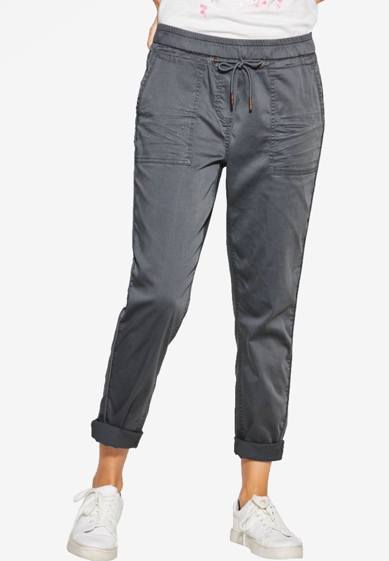 Cecil - LOOSE FIT - Stoffhose - light grey