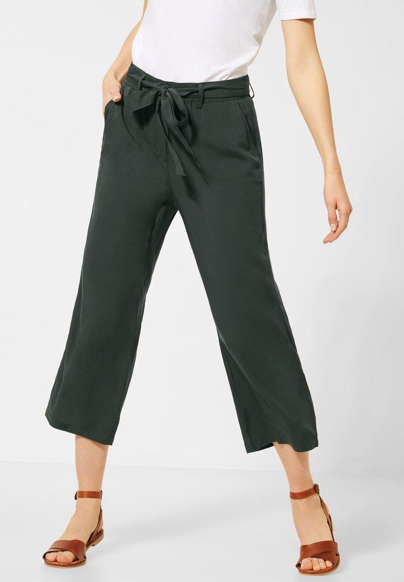 Cecil - UNIFARBE - Trousers - grün
