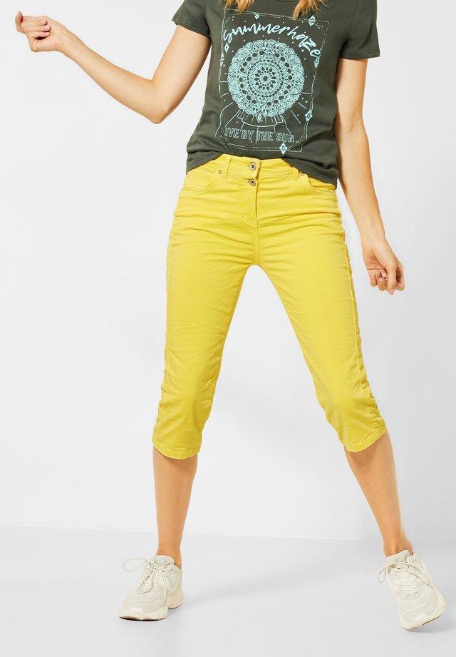 Stoffhose - gelb