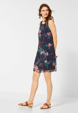 MIT BLUMEN - Day dress - blau