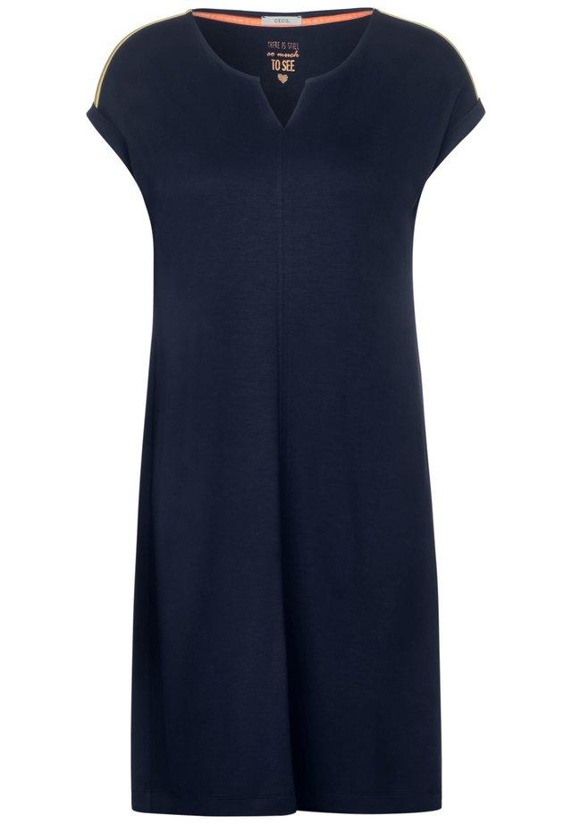 MIT NEONDETAIL - Jersey dress - blau