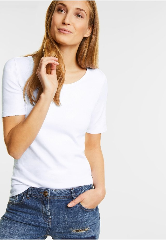 LENA - Basic T-shirt - weiß