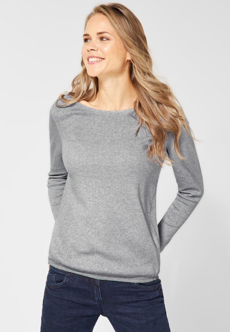 Cecil - MIT FISCHGRAT - Long sleeved top - white