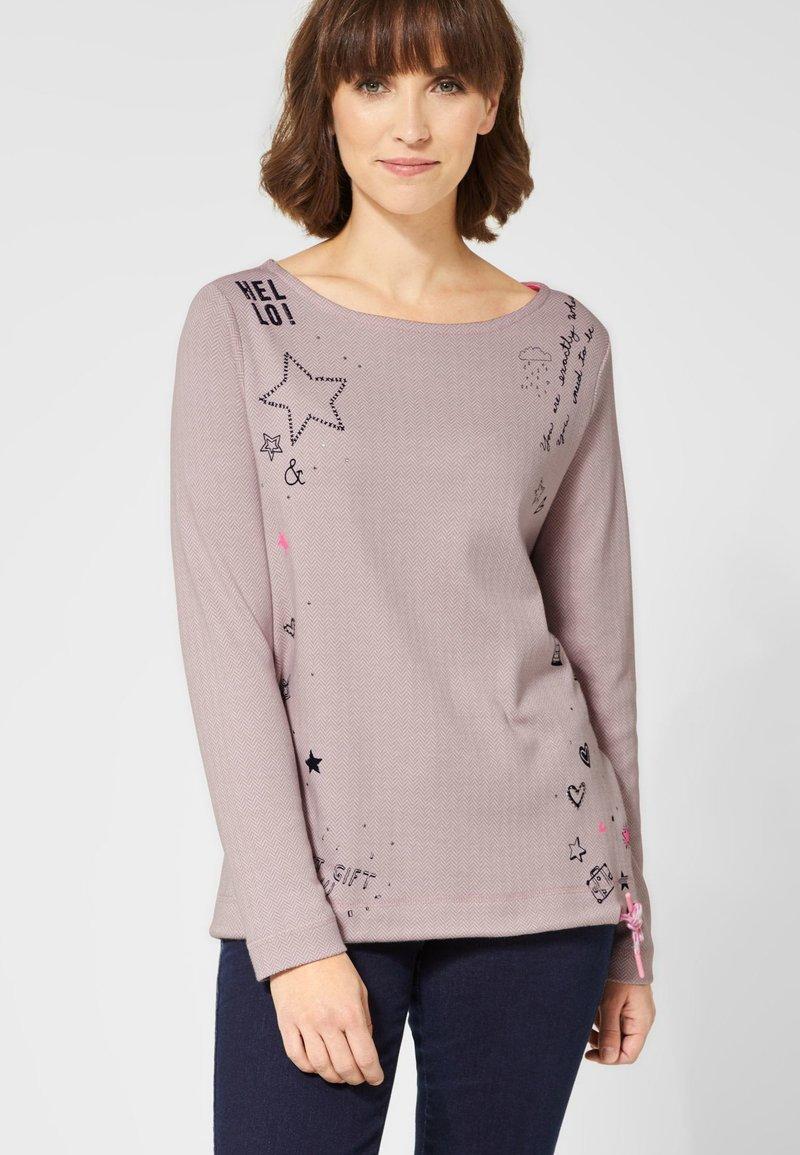 Cecil - MIT AUFDRUCK - Long sleeved top - rose