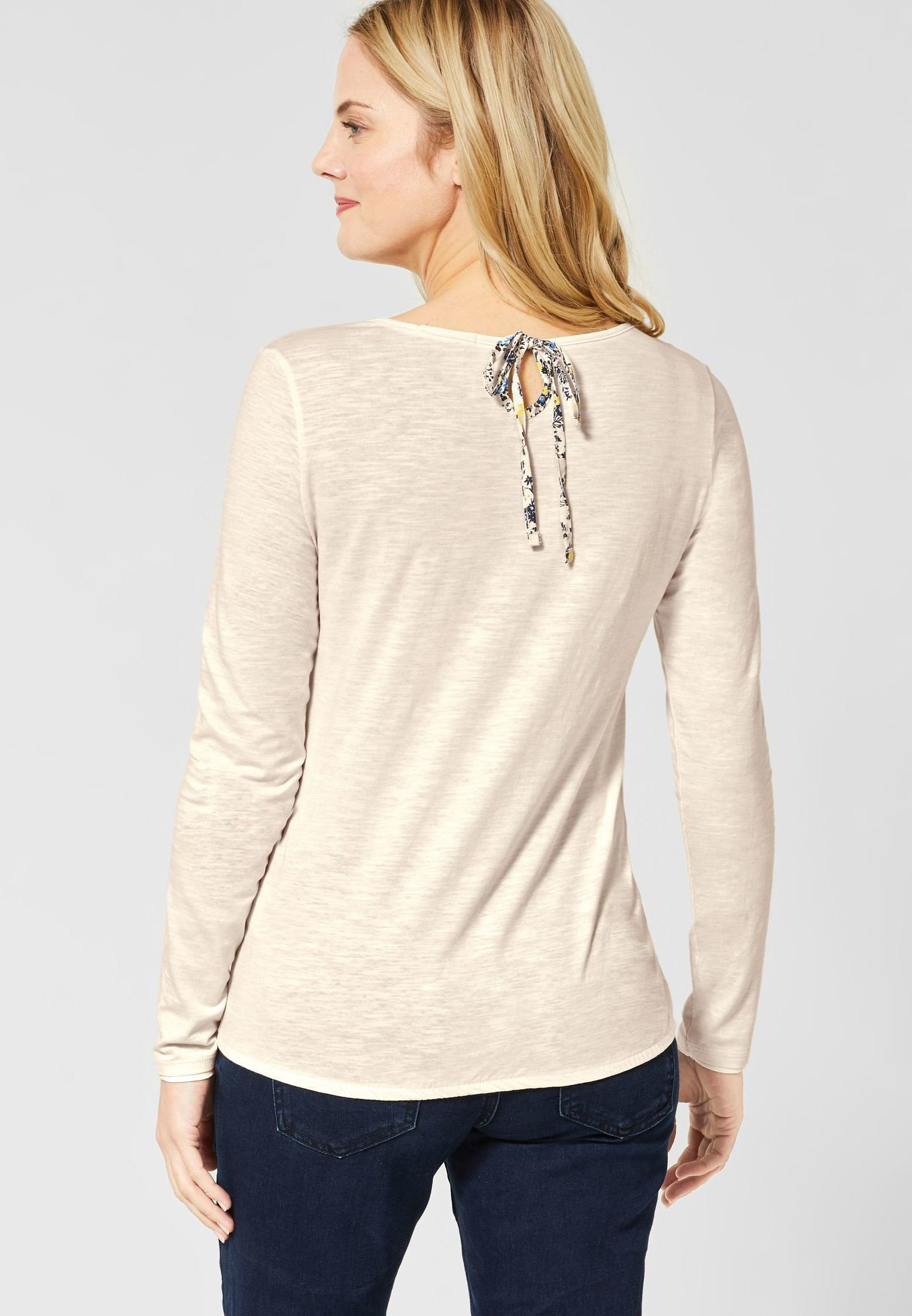 Cecil Long Sleeved Top - Beige