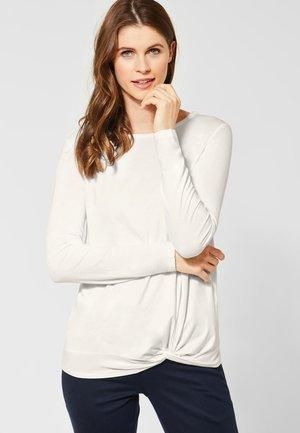 MIT KNOTENDETAIL - T-shirt à manches longues - white