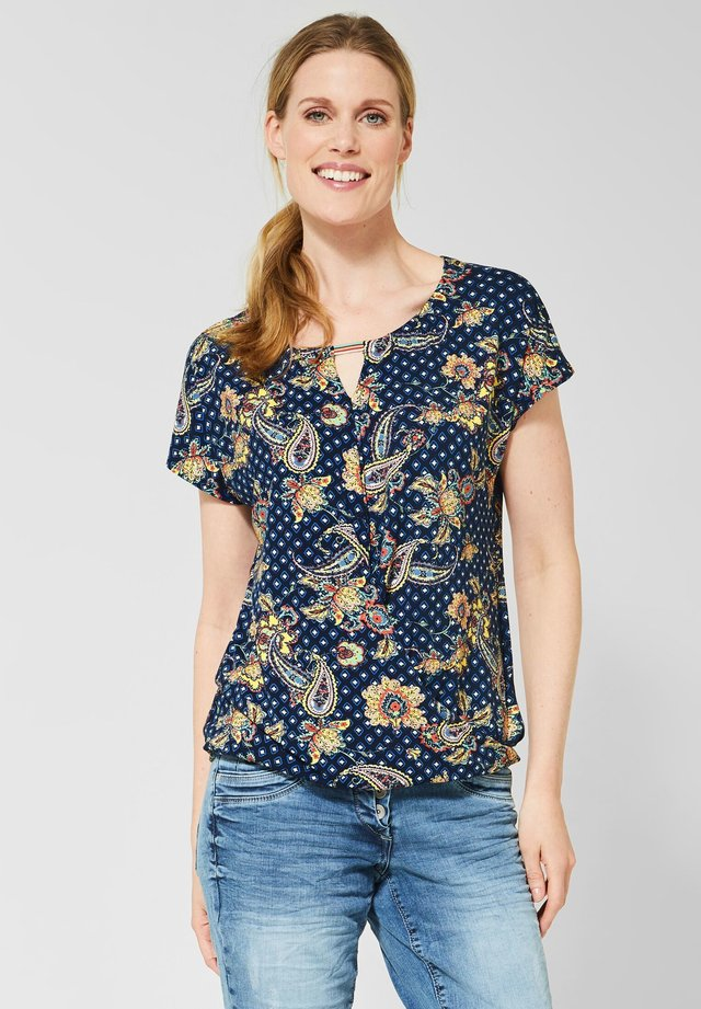 MIT PAISLEY - T-shirt print - blue