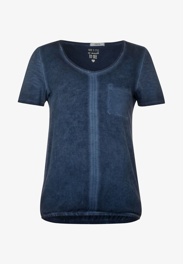 LÄSSIGES  - T-shirt print - blau