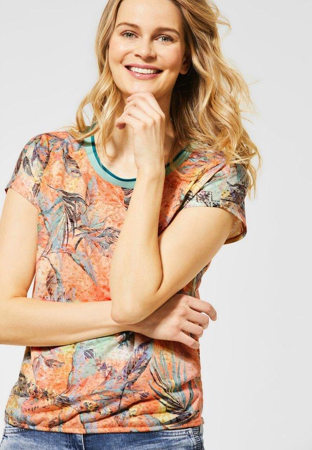 MIT MUSTER - T-Shirt print - orange