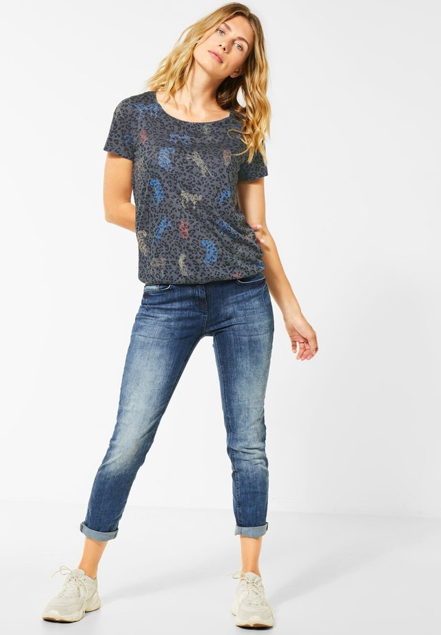 T-shirt print - blau