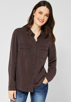 MIT PREMIUM TOUCH - Button-down blouse - brown