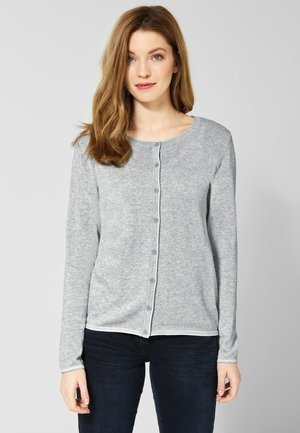 GERIPPE STRUKTUR - Strickjacke - grey