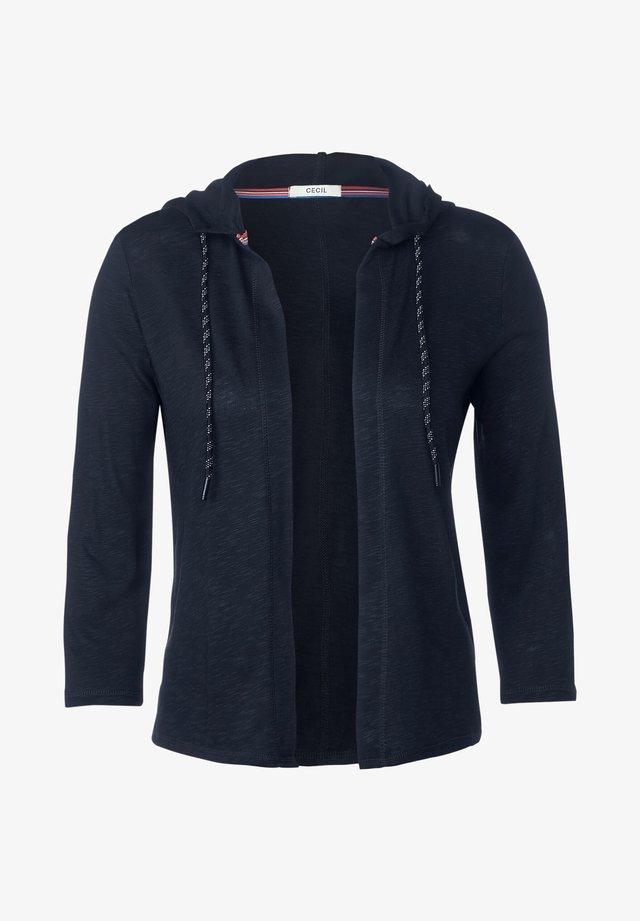 MIT KAPUZE - Vest - blau