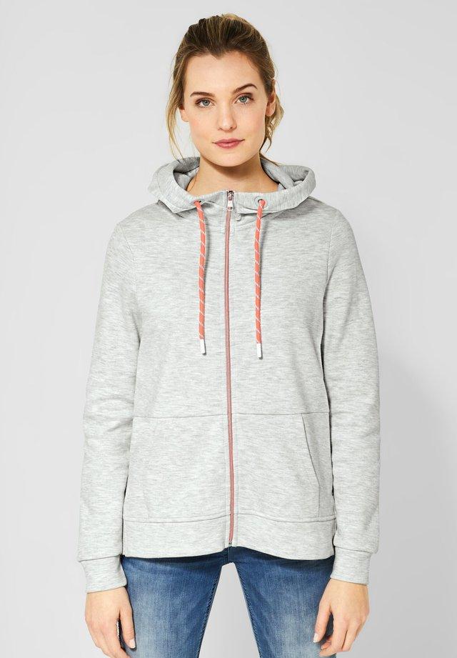 MIT SCHRIFT - Zip-up hoodie - white