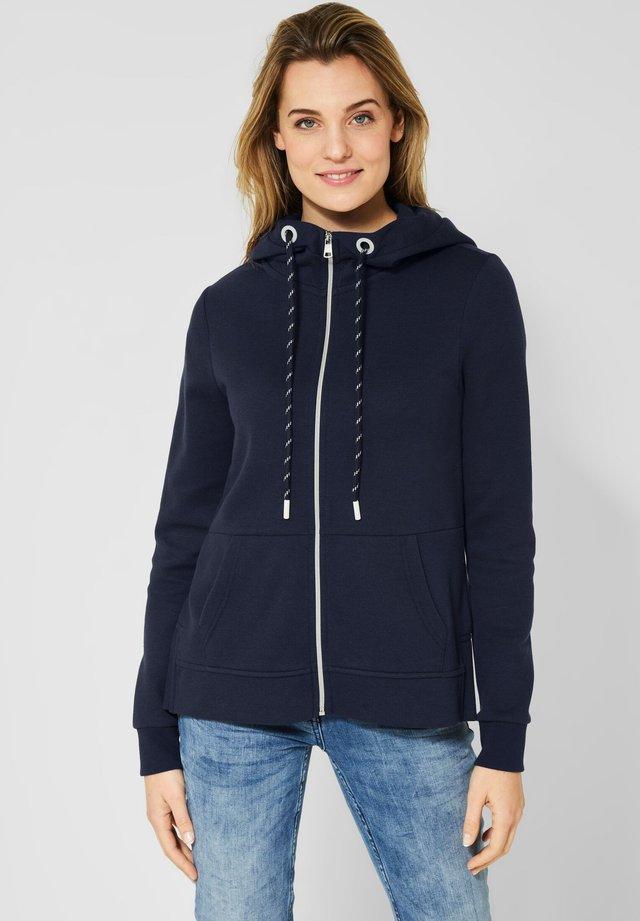 MIT SCHRIFT - Zip-up hoodie - blue
