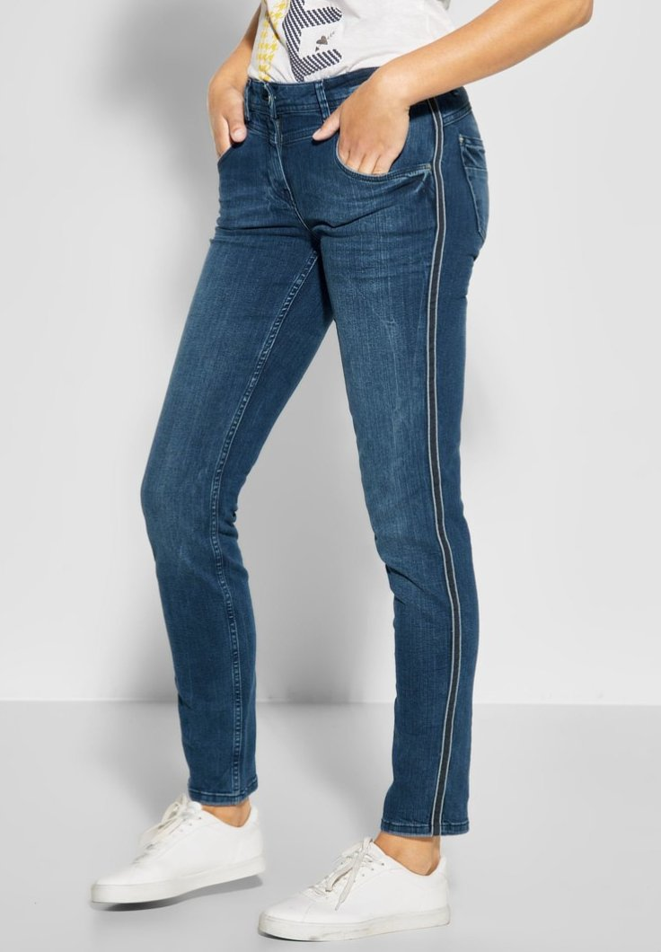 Cecil - MIT GALON CHARLIZE - Jeans Slim Fit - blue